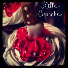 Killer Cupcakes My niece Michelle said she needed some 'baking therapy' and this is what she came up with. Simple yet creative is what I saw, when she share ...
