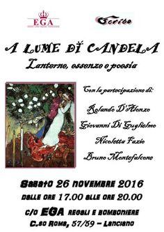 A lume di candela: lanterne essenze e poesia il 26 novembre a Lanciano