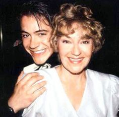 A young Robert Downey jr with his mom Elsie Ann Ford.