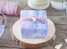 144 best wedding favours place cards images on pinterest wedding top ideas for designing wedding favours pretty watercolour wedding favour box to make yourself diy solutioingenieria Gallery