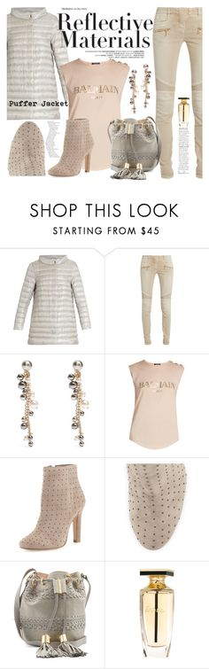 """""""Perfect Puffer Jacket"""" by moondawn ❤ liked on Polyvore featuring Herno, Balmain, Lanvin, Joie, See by Chloé and puffers"""