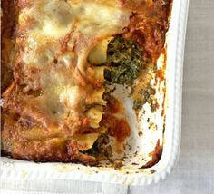 Spinach & three cheese cannelloni