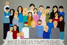 LOVE this felt family portrait.