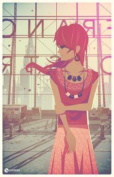 Rooftop Girl by Alex Varanese