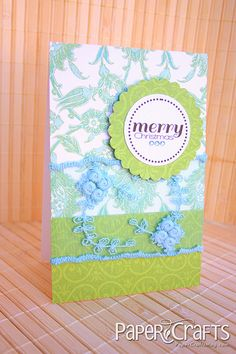 Clean & Green Christmas card by Susan R. Opel Paper Crafts magazine