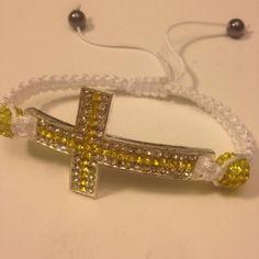 Big-Yellow-Shamballa-String-Cross-Bracelet