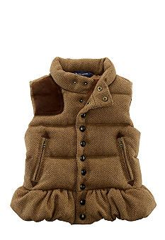 oh my god i just fucking died. why dont they make this for meeeeeeeeee?! why dont i have a little girl?!?!?!?!??!?! Ralph Lauren Childrenswear Tweed Down Vest Toddler Girl