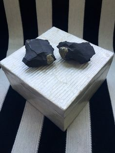 Natural Capiz Shell Box with Unique Pyrite by JesseDimondDesign