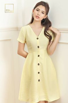 Vintage Style Dresses, Casual Dresses, Short Dresses, Frock Fashion, Fashion Dresses, Sexy Outfits, Stylish Outfits, Fancy Black Dress, Myanmar Dress Design