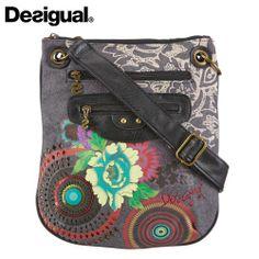 Desigual Flower Print Crossbody Bag - Blue Products- - TopBuy.com.au