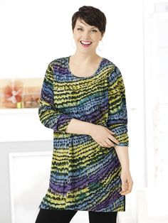 Dimensional Print Knit Tunic | Plus Size Tunics | fullbeauty