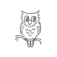 "Free vintage Vogart ""Owl on a Branch"" embroidery pattern. Available at Needlecrafter."