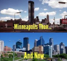Minneapolis Skyline Then and Now
