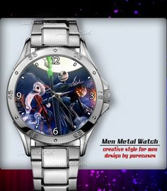 Metal Watches Nightmare Before Christmas Throw #3 Men's Sport Watch | purecases - Jewelry on ArtFire