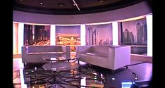 Television set design, TV set design - al-aan tv (dubai)