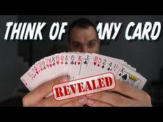 They think of a card. This is the BEST mentalism/mind reading card trick I know with a borrowed, ordinary deck of cards.