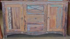 Reclaimed rustic teak buffet cabinet - $825