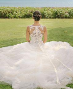 Button and Beaded Back Wedding Dress | Cristina Elena Photography | Blog.theknot.com