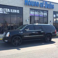 That Cadillac Escalade on 6s. #blackcadillac #esv #cadillac #escalade #dc #md #va #dub #rims #houseofdubs thehouseofdubs.net Escalade Esv, Cadillac Escalade, Instagram Posts, House, Home, Homes, Houses