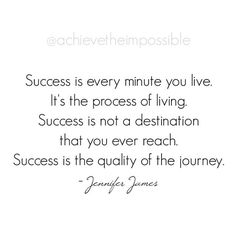 On being successful...