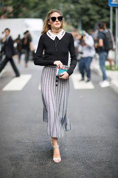 Olivia Palermo seen during Milan Fashion Week Spring/Summer 2017 on September 23 2016 in Milan Italy