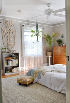 same wood floors as mine, with gray walls and textured linens
