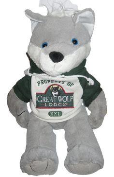 Great Wolf Lodge Mascot Plush with Hoodie Logo Embroidered Shirt Stuffed Animal #GoodStuff