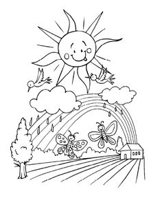 Kids Will Love These Free Springtime Coloring Pages: Spring Coloring Pages at All Kids Network