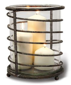 Take a look at this Swirl Iron Lantern by Foreside on #zulily today!