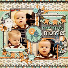 Cindy's Layered Templates Half Pack 37 - Just for Journaling 4 by Cindy Schneider at the Sweet Shoppe  Monster Mash by Zoe Pearn