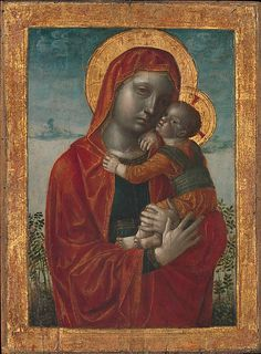 By Vincenzo Foppa  (Italian, active by 1456-1515/16), ca. 1480, Madonna and Child, Tempera, oil, and gold on wood.