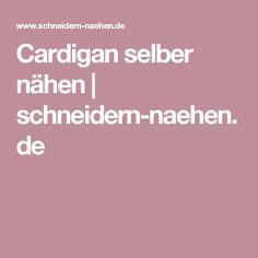 Cardigan selber nähen   schneidern-naehen.de