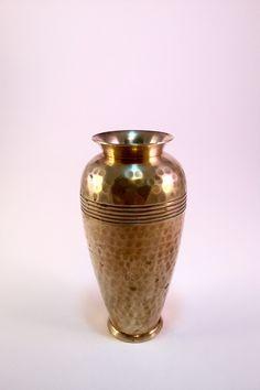 Vintage Hammered Brass Vase Solid Brass Made In India https://www.etsy.com/listing/264603261/vintage-hammered-brass-vase-solid-brass?utm_source=socialpilotco&utm_medium=api&utm_campaign=api #vase #brass