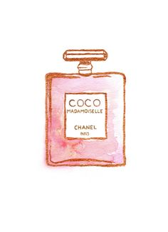 Perfume bottle COCO Mademoiselle by CHANEL by PaperLoveCo on Etsy, $16.50