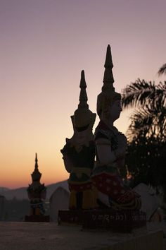 Sunset in Chiang Mai, Thailand. Chiang Mai, Statue Of Liberty, Emerald, Thailand, Sea, Sunset, Orange, Travel, Liberty Statue