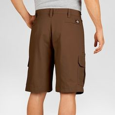 Dickies Men's Big & Tall Relaxed Fit Lightweight Duck 11 Cargo Shorts- Timber 44