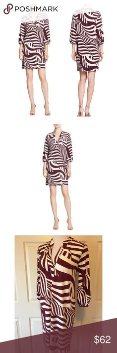 """BANANA REPUBLIC PRINT TUNIC DRESS Beautiful Banana Republic Factory Print Tunic Dress🔹Banded three-quarter sleeves🔹Hits above the knee🔹Vented hem🔹Split neckline🔹Size Small: 38"""" bust, 36"""" length🔹95% Polyester, 5% Spandex🔹Machine wash🔹NO trades🔹Smoke Free Home🔹Bundle discount: 10% off two, 15% off three🔹To discover more Banana Republic treasures please visit our wonderful friend 🔹Molinda @molinda25🔹Thank you for stopping by💕 Banana Republic Dresses"""