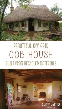 Builds Cozy Little Cob House for A farmer built this cozy little cob house using mostly reclaimed materials.A farmer built this cozy little cob house using mostly reclaimed materials. Maison Earthship, Earthship Home, Earthship Design, Cob Building, Building A House, Green Building, Earth Bag Homes, Mud House, Cottage House