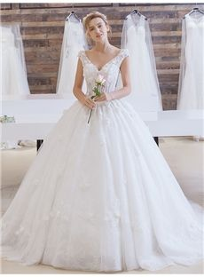 Fall Court Lace-up Summer Sleeveless Flowers Natural All Sizes Wedding Dress