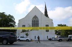 Tuerie de Charleston : Wikipédia, baromètre de l'émotion [L'Emanuel African Methodist Episcopal (AME) Church, le 19 juin 2015 (JOE RAEDLE/GETTY IMAGES NORTH AMERICA/AFP)]