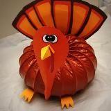 DIY turkey center piece from a dryer vent, - Thanksgiving Decorations Diy Thanksgiving Diy, Thanksgiving Centerpieces, Autumn Crafts, Holiday Crafts, Holiday Decor, Holiday Ideas, Fall Projects, Craft Projects, Craft Ideas