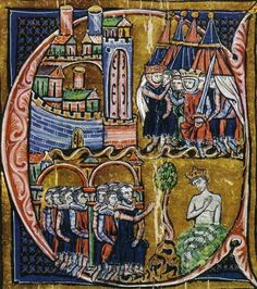 Medieval artwork portraying the Second Crusade