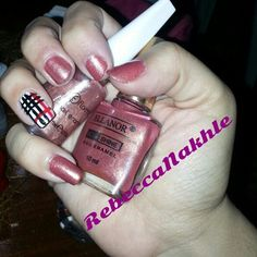 Burberry nails using Flormar #375 and Ellanor-Ultra Shine #2