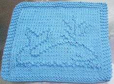 DigKnitty Designs: Spouting Whale Knit Dishcloth Pattern