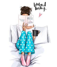 Fashion, even in pajamas. In weekend mode La mode, même en pyjama. En mode week-end - Unique Wallpaper Quotes