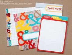 In a Creative Bubble: journaling cards