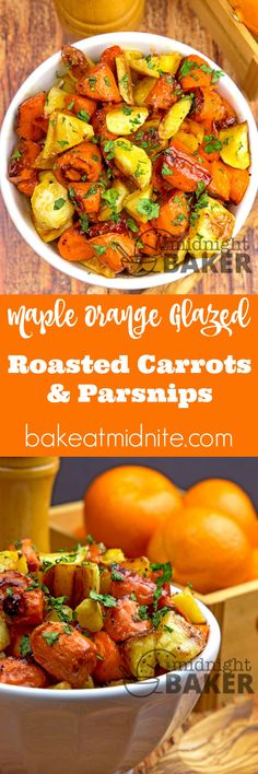 Savory and sweet roasted carrots and parsnips glazed with an orange ...
