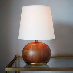 west elm + Rejuvenation Mid-Century Wood Table Lamp - Small #westelm
