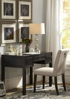 Home Office Inspiration Home Office Space, Home Office Decor, Home Decor, Office Nook, Office Chic, Pottery Barn Office, Table Lamp Base, Interior Decorating, Interior Design