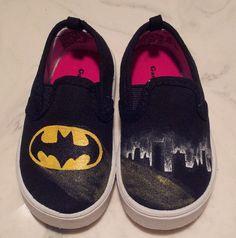 Hand Painted Batman Canvas Shoes